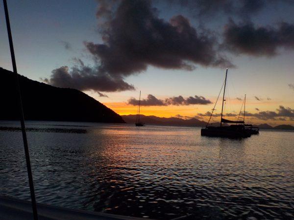 BVI Peter Island 3 Sonnenuntergang in der besten Bucht